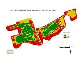 Winter wheat yield data, averaged over 5 years - Essex.